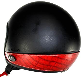 Love Helmet neck cover imitation crocodile red