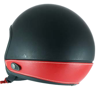 Love Helmet neck cover imitation leather red