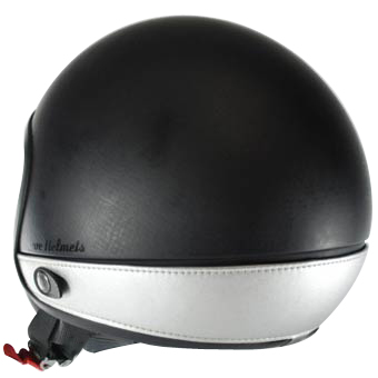 Love Helmet neck cover imitation leather silver