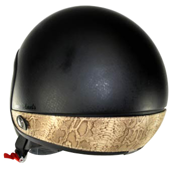Love Helmet neck cover Python beige