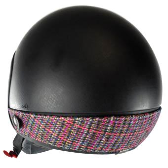 Love Helmet neck cover imitation tweed pink