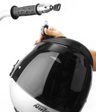 Doppio lucchetto appendi casco manubrio OJ