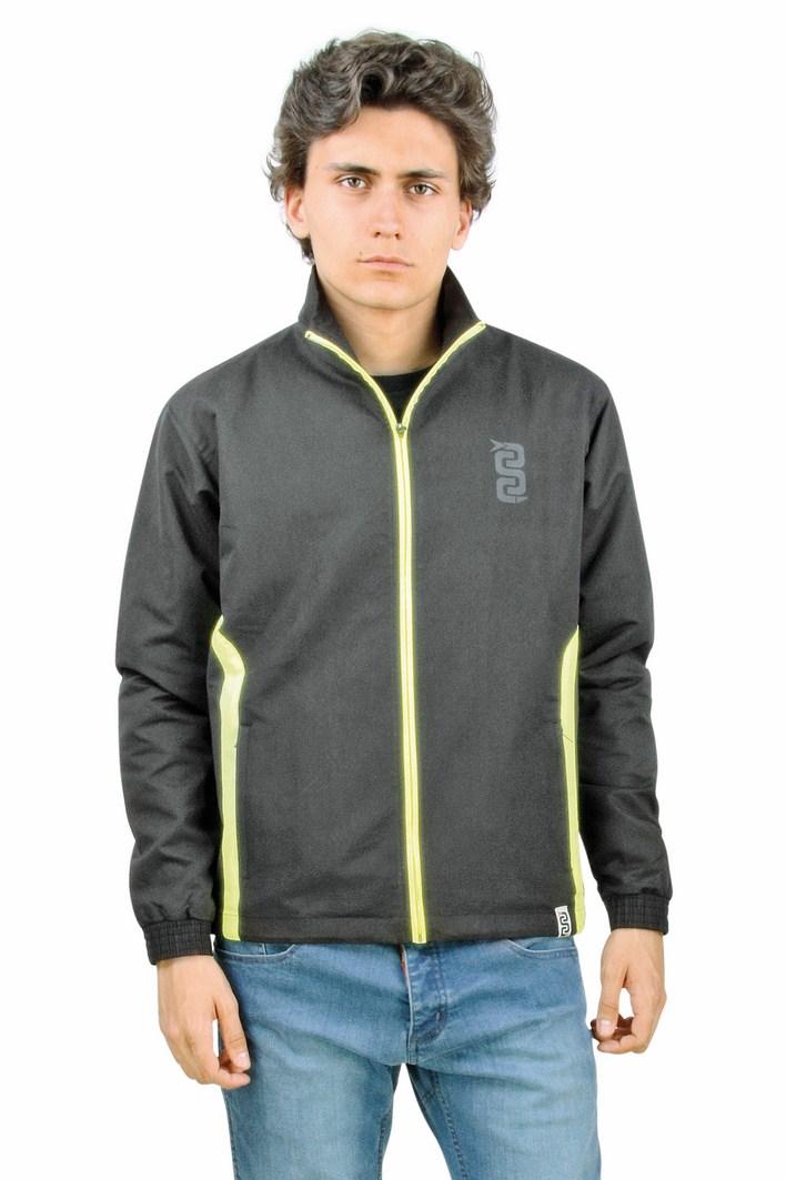 OJ Lighter wind jacket black yellow fluo
