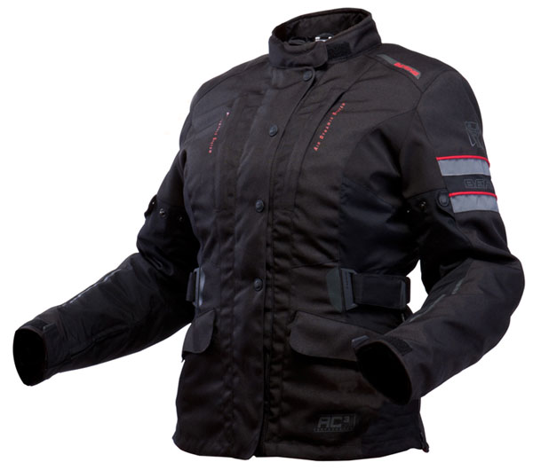 Approved woman motorcycle jacket Bering Margo Black Anthracite R