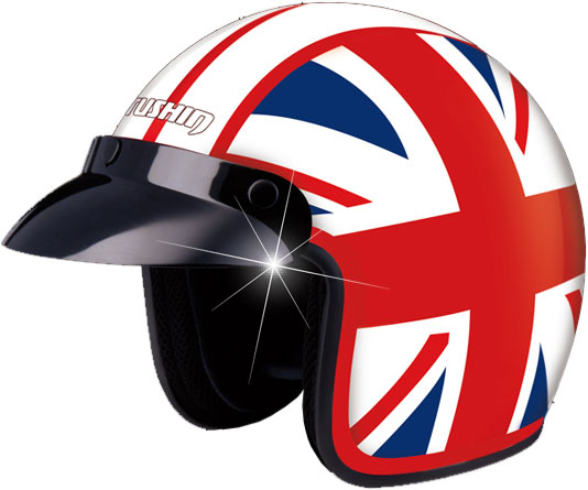Casco moto Marushin C-130 English Flag 2011