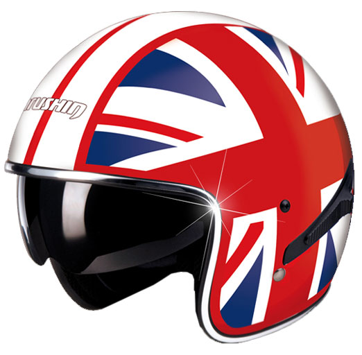 Casco moto Marushin C139 Flag English 2011 visierino integrato