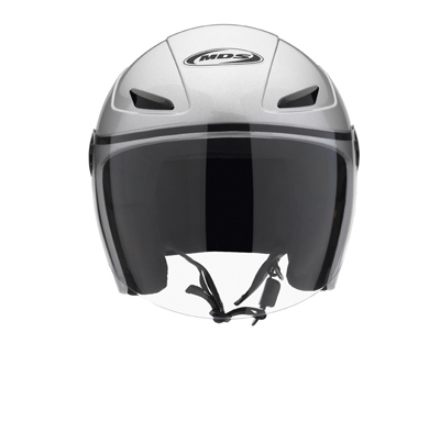 MDS by AGV Sonic Mono Open Face Helmet - Col. Silver