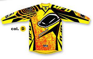 Ufo Plast Mx-22 kid jersey yellow