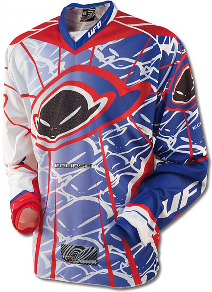 Ufo Plast Made in Italy 2012 Eclipse enduro jersey blue-red