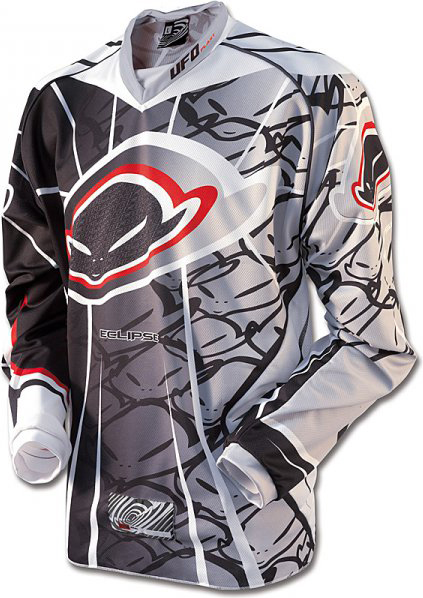 Ufo Plast Made in Italy 2012 Eclipse enduro jersey white-black