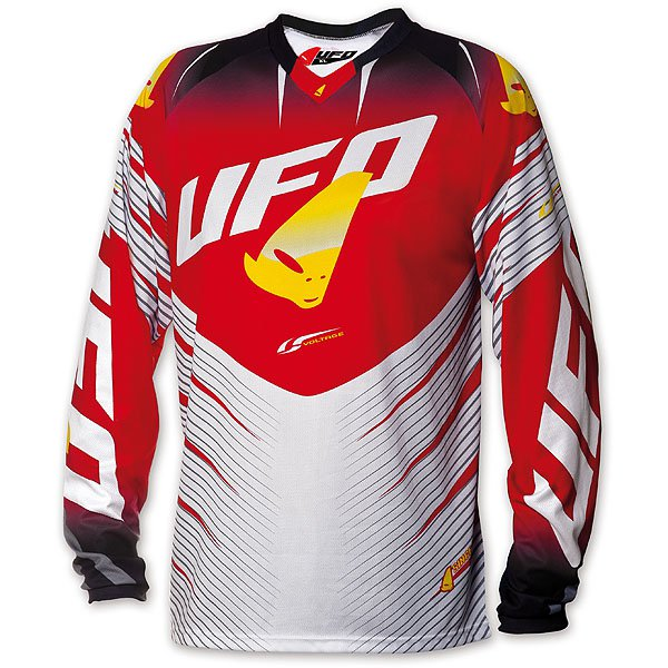 Ufo Plast Voltage cross jersey Red White