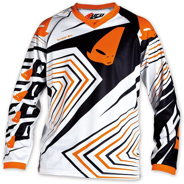 Ufo Plast Iconic kid cross jersey Orange White
