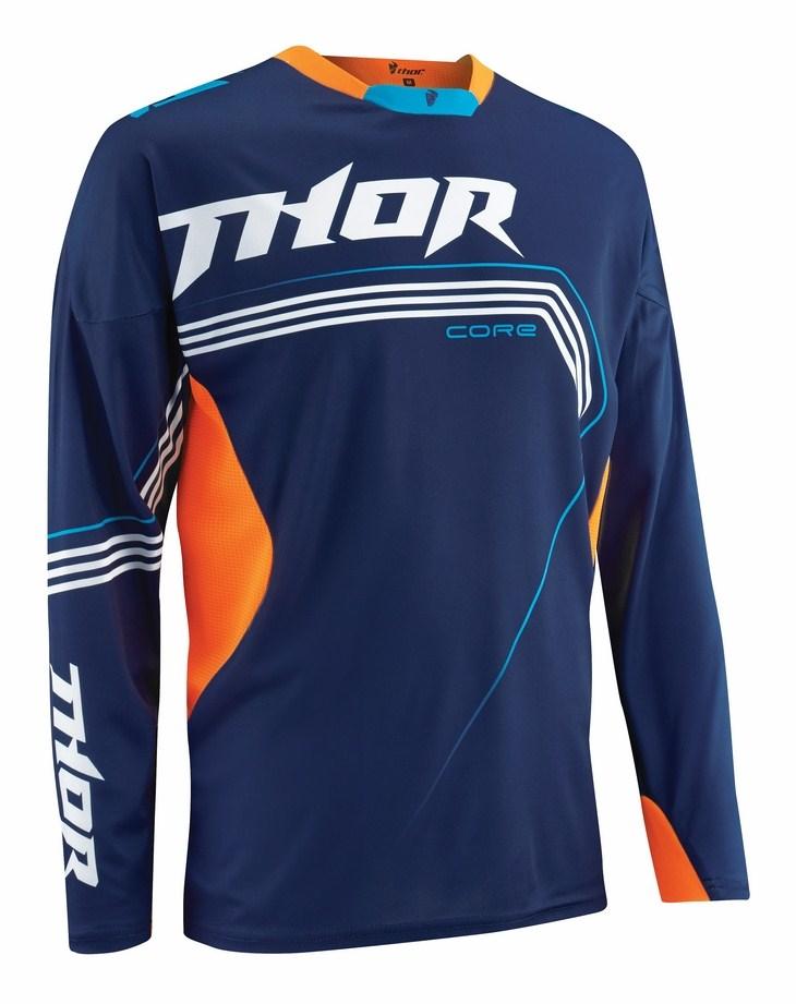 Maglia cross Thor Core Bend Blu arancio fluo