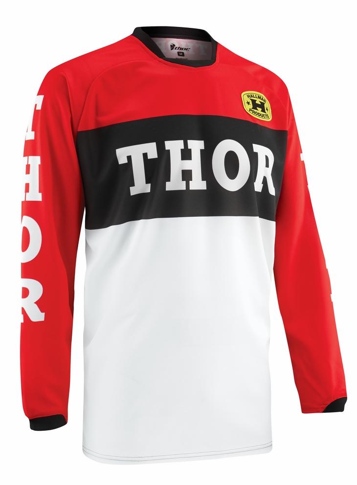 Maglia cross Thor Phase Pro-GP rosso nera
