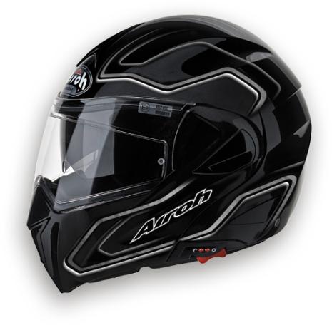 Airoh Mirò XRP 600 openface helmet - p-j homologated black