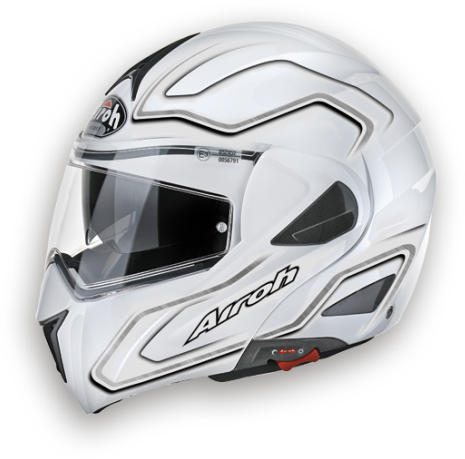Airoh Mirò XRP 600 openface helmet - p-j homologated white