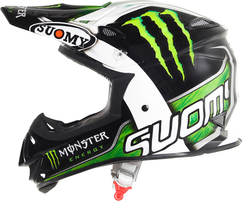 Casco moto cross Suomy MR Jump Monster Energy opaco