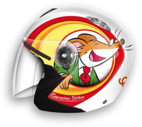 Casco moto jet bambino Airoh MR Jet Geronimo Stilton