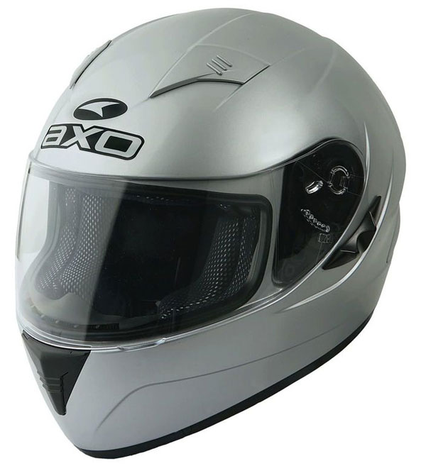 Full face helmet with goggles sun AXO Silver Goblin