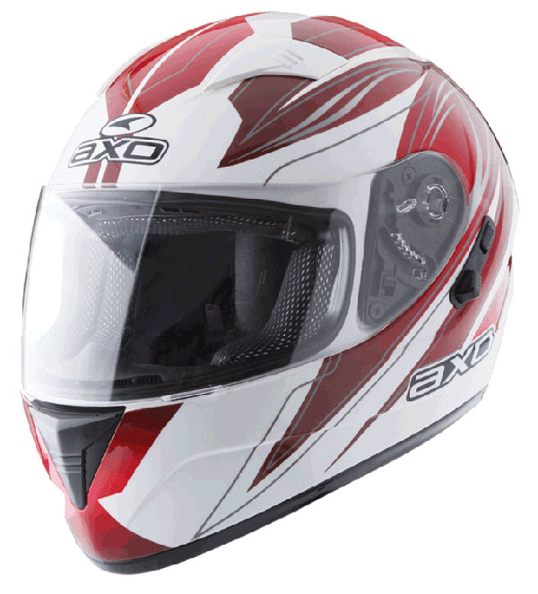 Full face helmet with goggles sun AXO Red Goblin