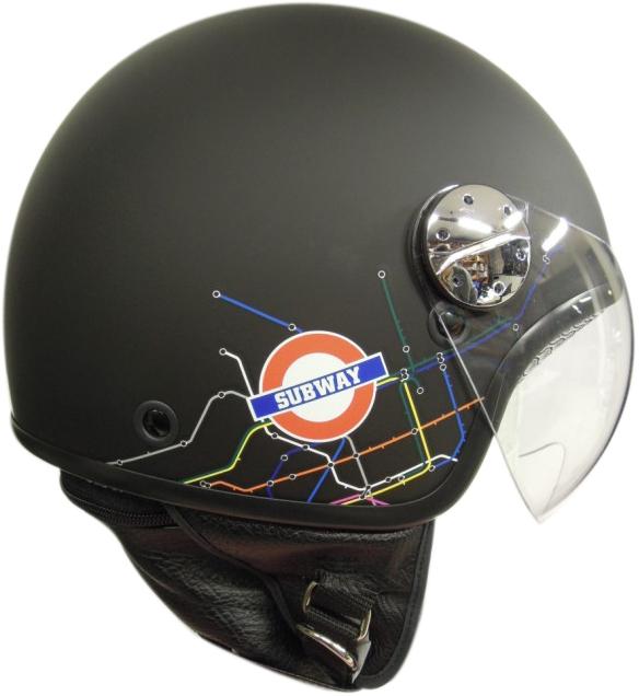 jet helmet AXO Subway Black White