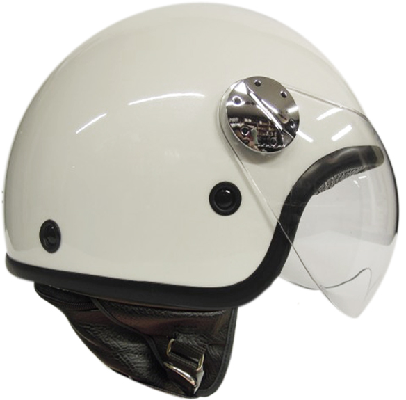 jet helmet AXO Subway Grey White