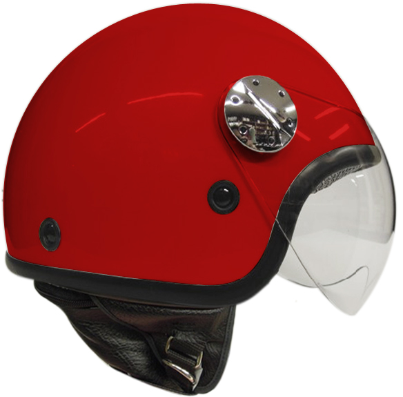 jet helmet AXO Subway Red White
