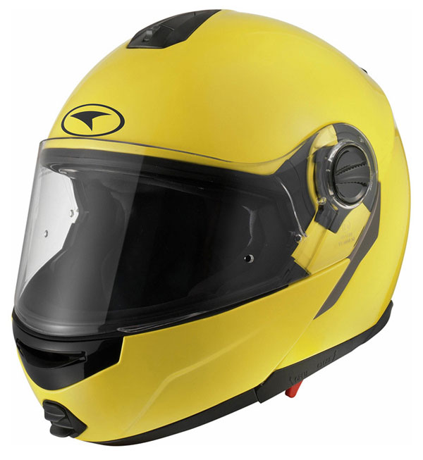 Modular helmet with goggles sun AXO Modus Yellow