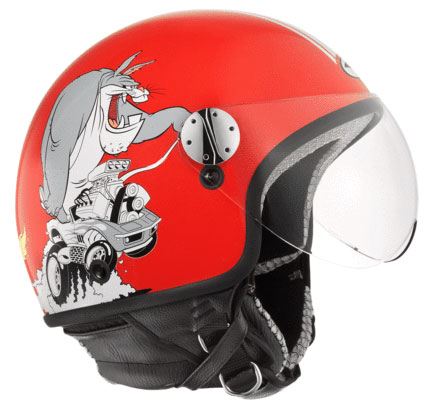 Jet Helmet AXO Subway Warner Duffy Duck Red
