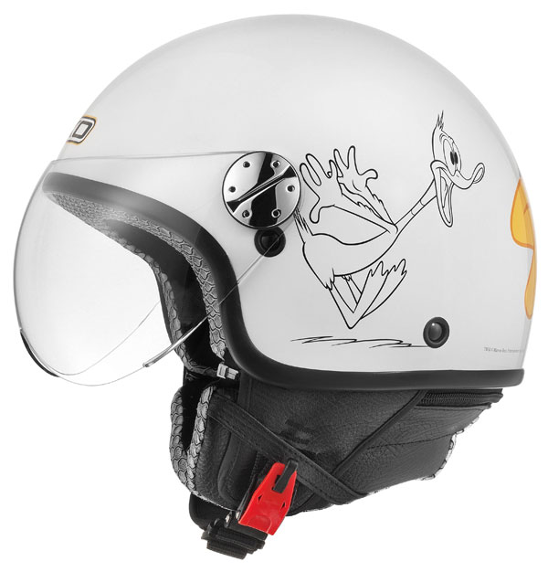 Casco jet AXO Subway Warner Duffy Duck Bianco