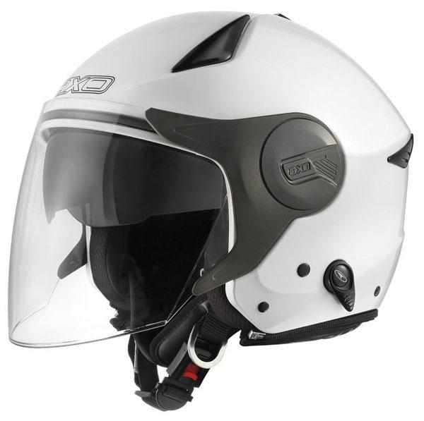 Caco jet with visor eyeglass AXO Polis White