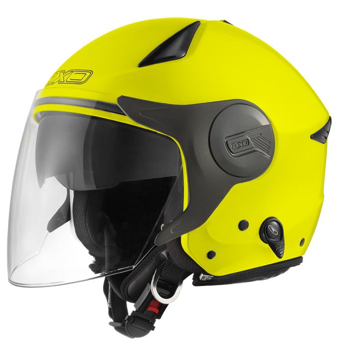 AXO Polis jet helmet Yellow