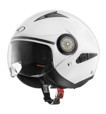 Jet helmet with visor eyeglass AXO Lord White