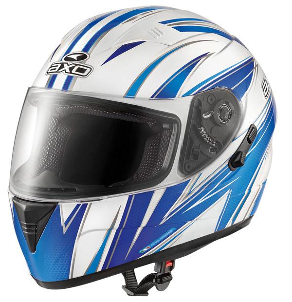 Full face helmet with goggles sun AXO Goblin Blue Wave