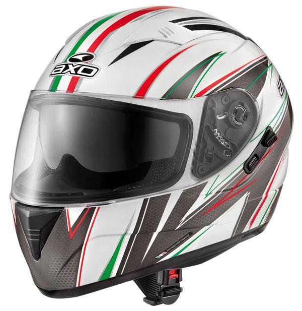 Full face helmet with goggles sun AXO Goblin Wave Italian