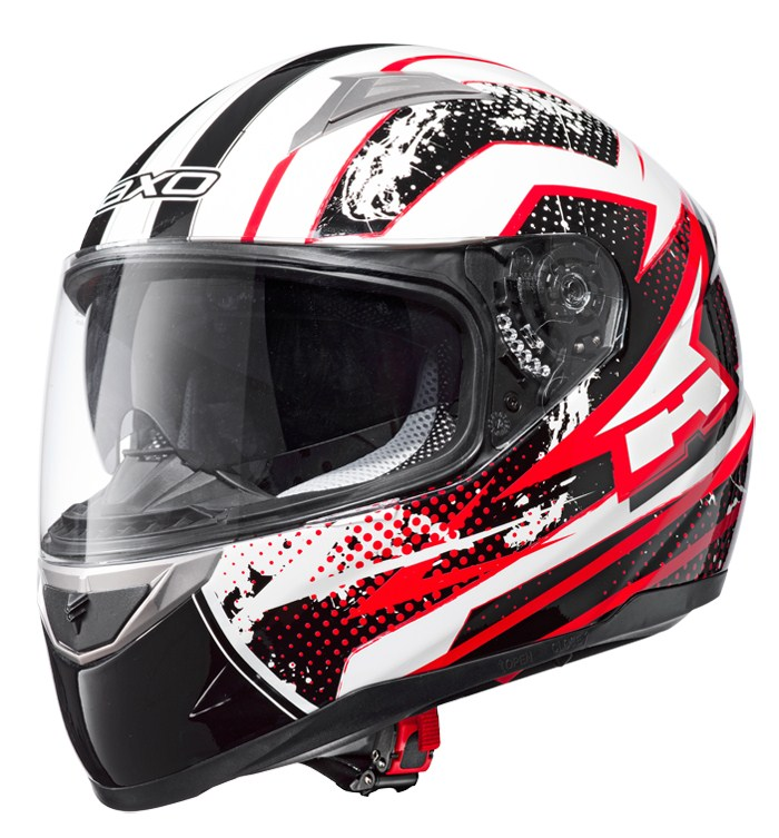 AXO ST3 full face helmet White Red