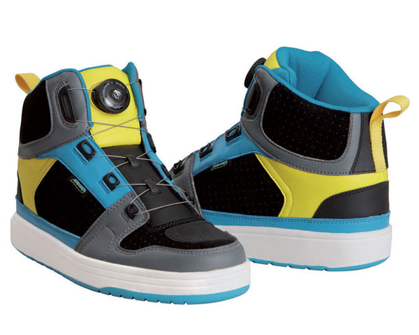 AXO motorcycle 5T09 Shoes Blue Yellow