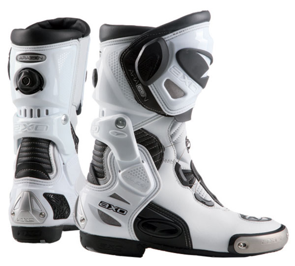 Motorcycle Boots AXO Aragon White