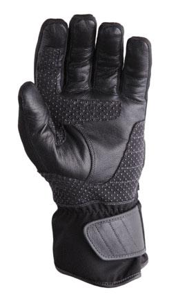 Guanti moto in pelle invernali AXO Cabot WP Nero