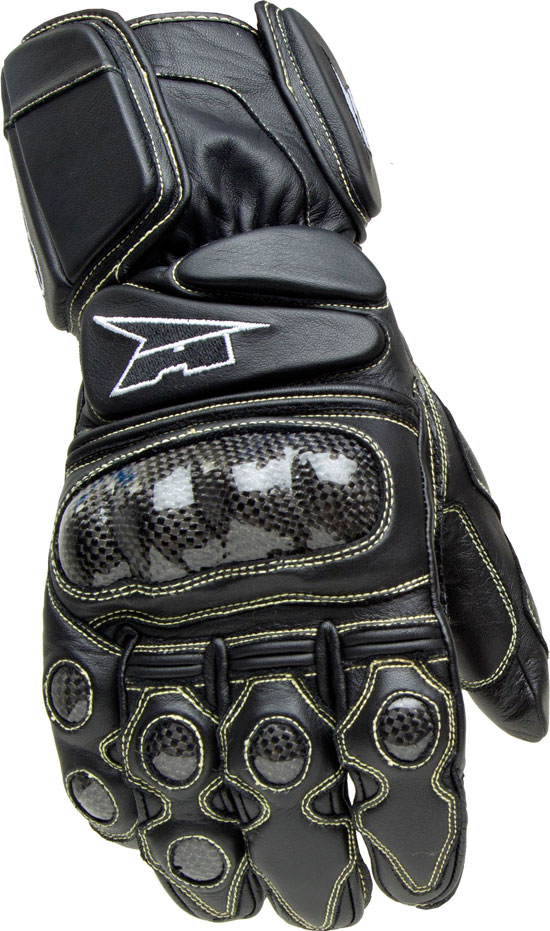 Motorbike Leather Gloves AXO KK4R HT Black