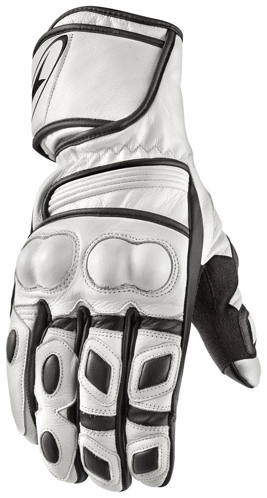 Guanti moto in pelle AXO KR11 Bianco