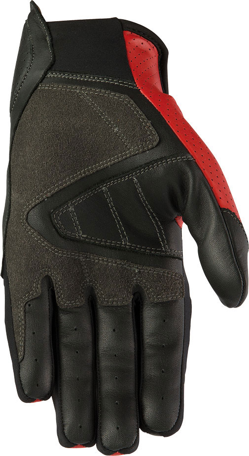 Summer Leather Motorcycle Gloves AXO Pro Race XT Black Red