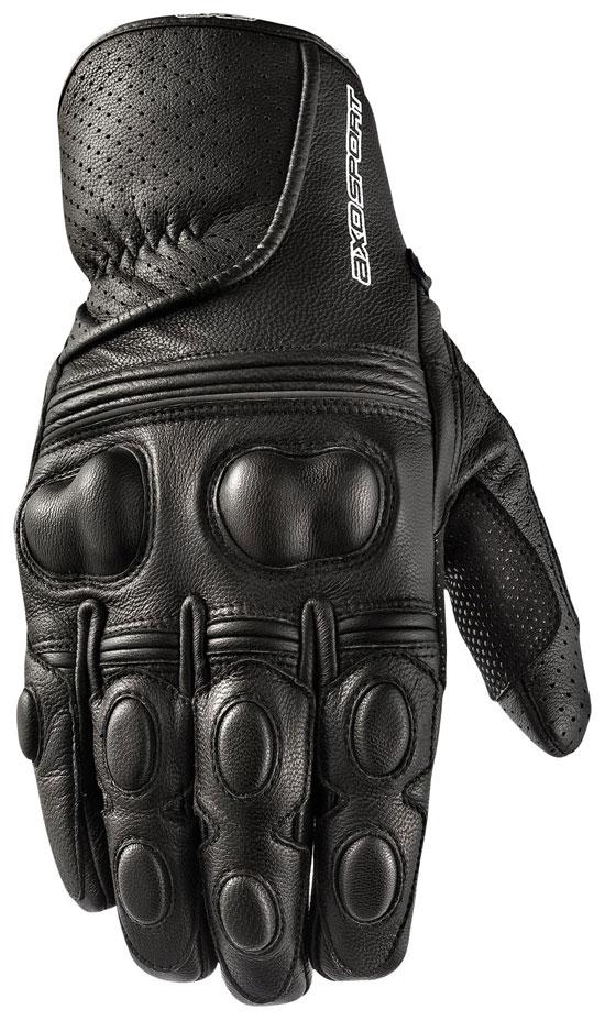 Motorbike Leather Gloves AXO Black Snake