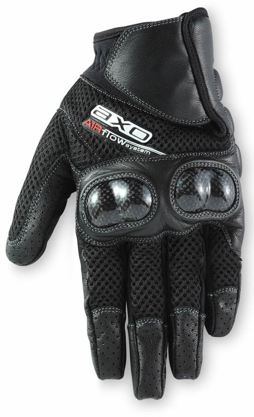 Summer Motorcycle Gloves AXO Air Flow Tech Black
