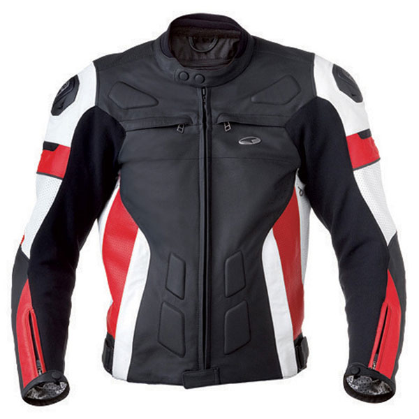 Motorcycle Leather Jacket AXO XRV Black Red