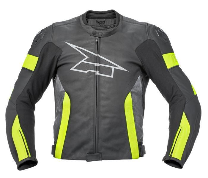 AXO XRV leather jacket Black Yellow