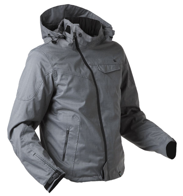 Giacca moto impermeabile AXO Head Up Grigio scuro