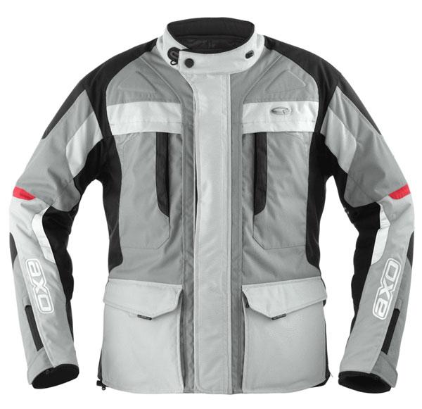 AXO motorcycle jacket waterproof Voyager Grey