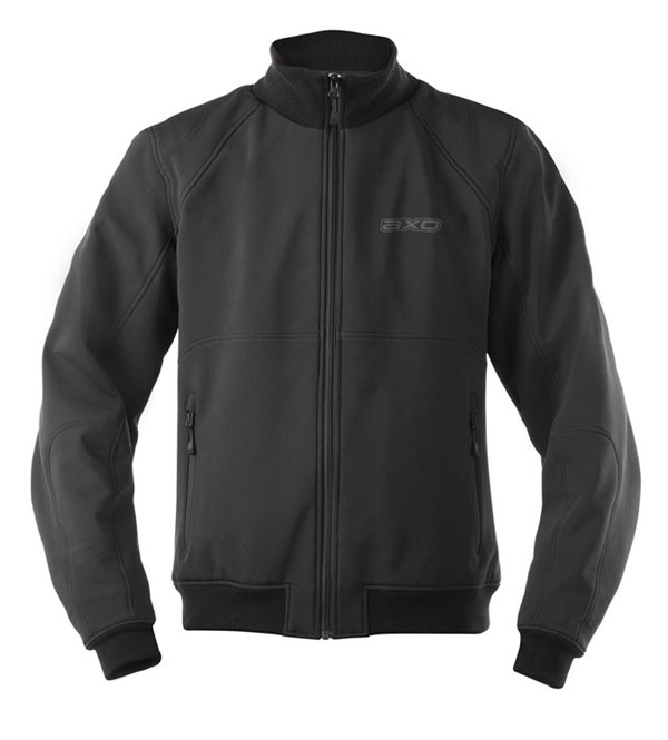 AXO motorcycle jacket windproof softshell Wind Stopper Black