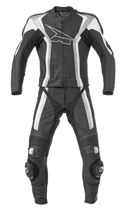 AXO Talon Comby leather divisible suit Black